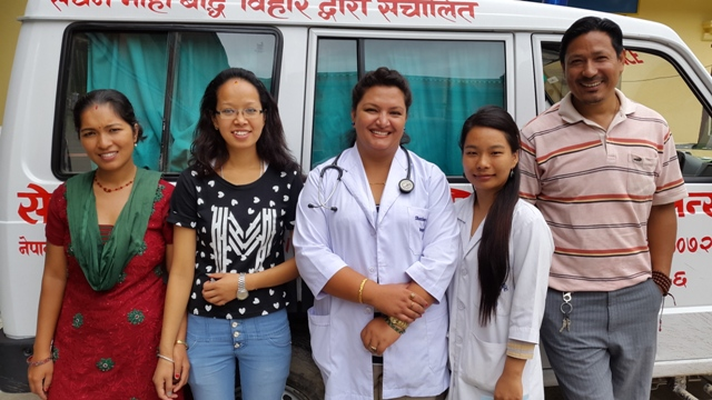 Medical team from Shechen Clinic & Hospice