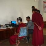 hearing testing at Shechen Clinic