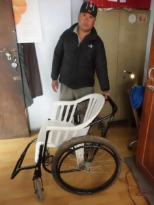 Wheeled wheel chair