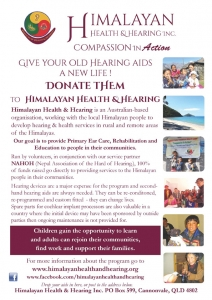 HHH Hearing aid donations 2015